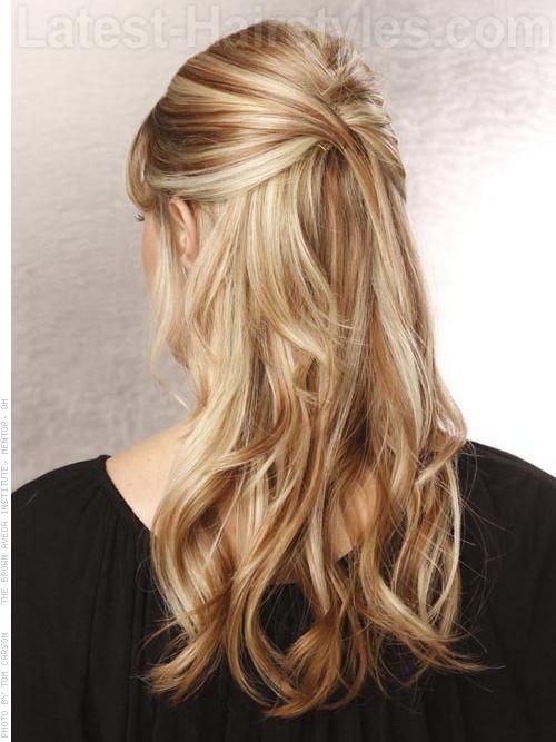 26 Stunning Half Up Half Down Hairstyles Stayglam Prom Hairstyles For Long Hair Long Hair Wedding Styles Medium Length Hair Styles