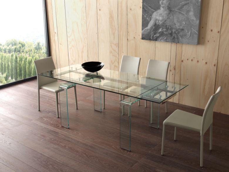 Tavolo Mini Glass 676/2 tavoli cristallo allungabili - tavoli | Un ...