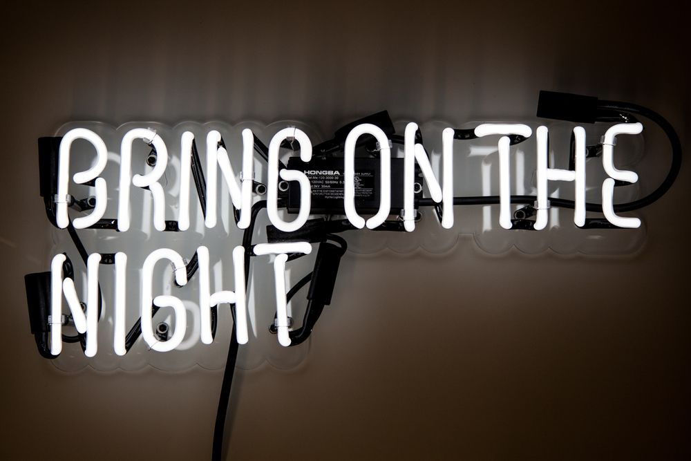 Bring On The Night neon sign | Unique neon signs and art ...