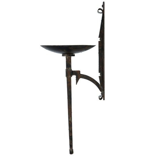 Gothic Bobeche Steel Rustic Wall Sconce Your Western Decor Rustic Wall Sconces Wall Sconces Western Decor