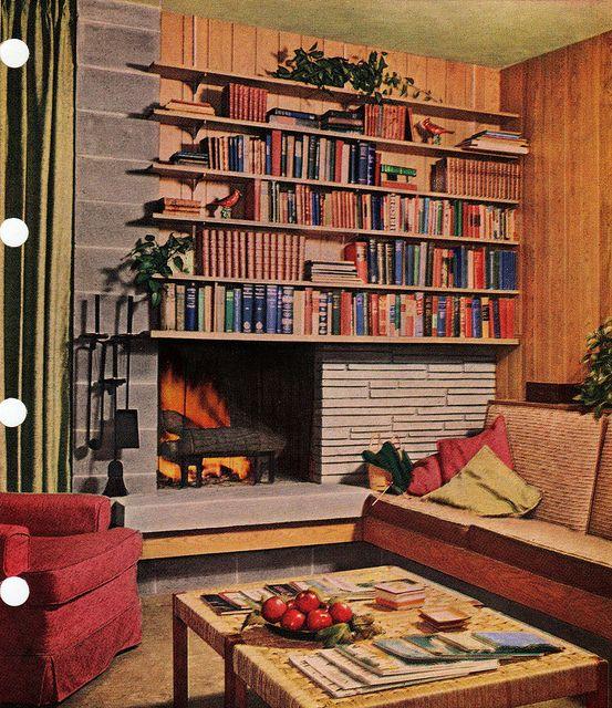 Mid Century Basement: Mid Century Modern Fireplace In 2019