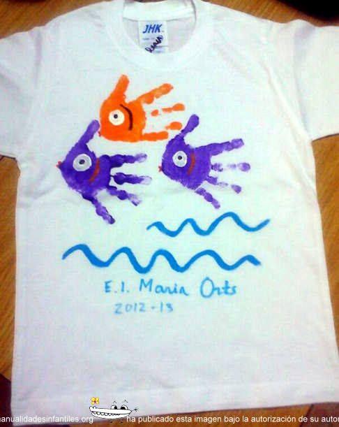 Pintar camisetas de verano manualidades ni os pinterest - Plantillas para pintar camisetas a mano ...