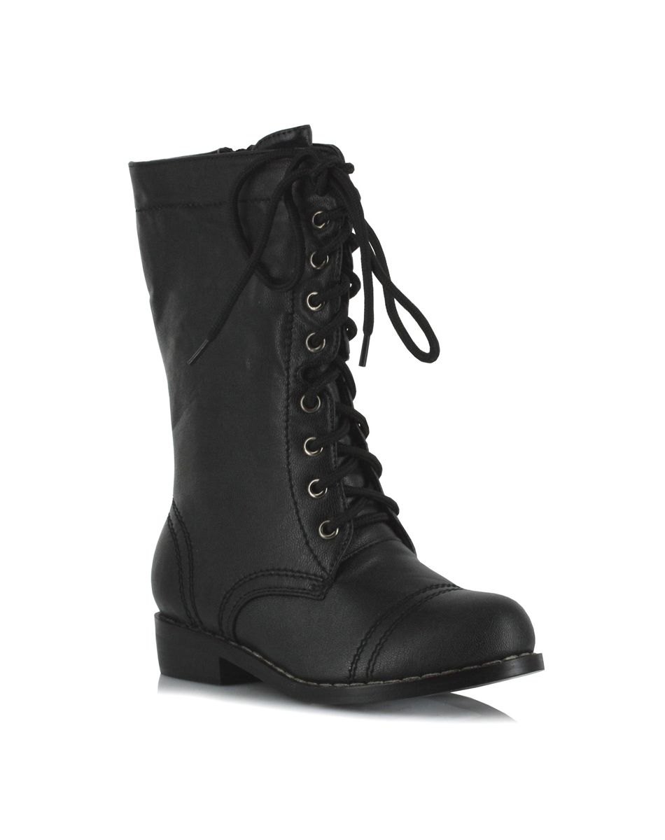 Combat Black Boots - Cr Boot