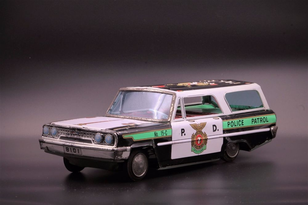 Details about Vintage Toy Jeep Tin Friction Military Police Car Jeep