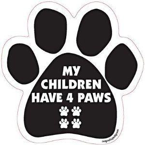 I LOVE MY DOGS Dog Paw Magnet Car Truck File Cabinet Refrigerator USA NEW