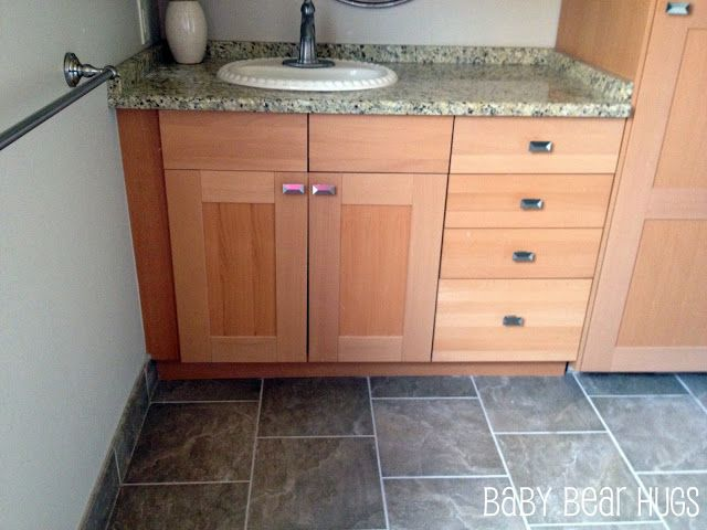 Custom Bathroom Vanities Omaha ikea kitchen made into 'custom' bathroom vanity | ikea hackers