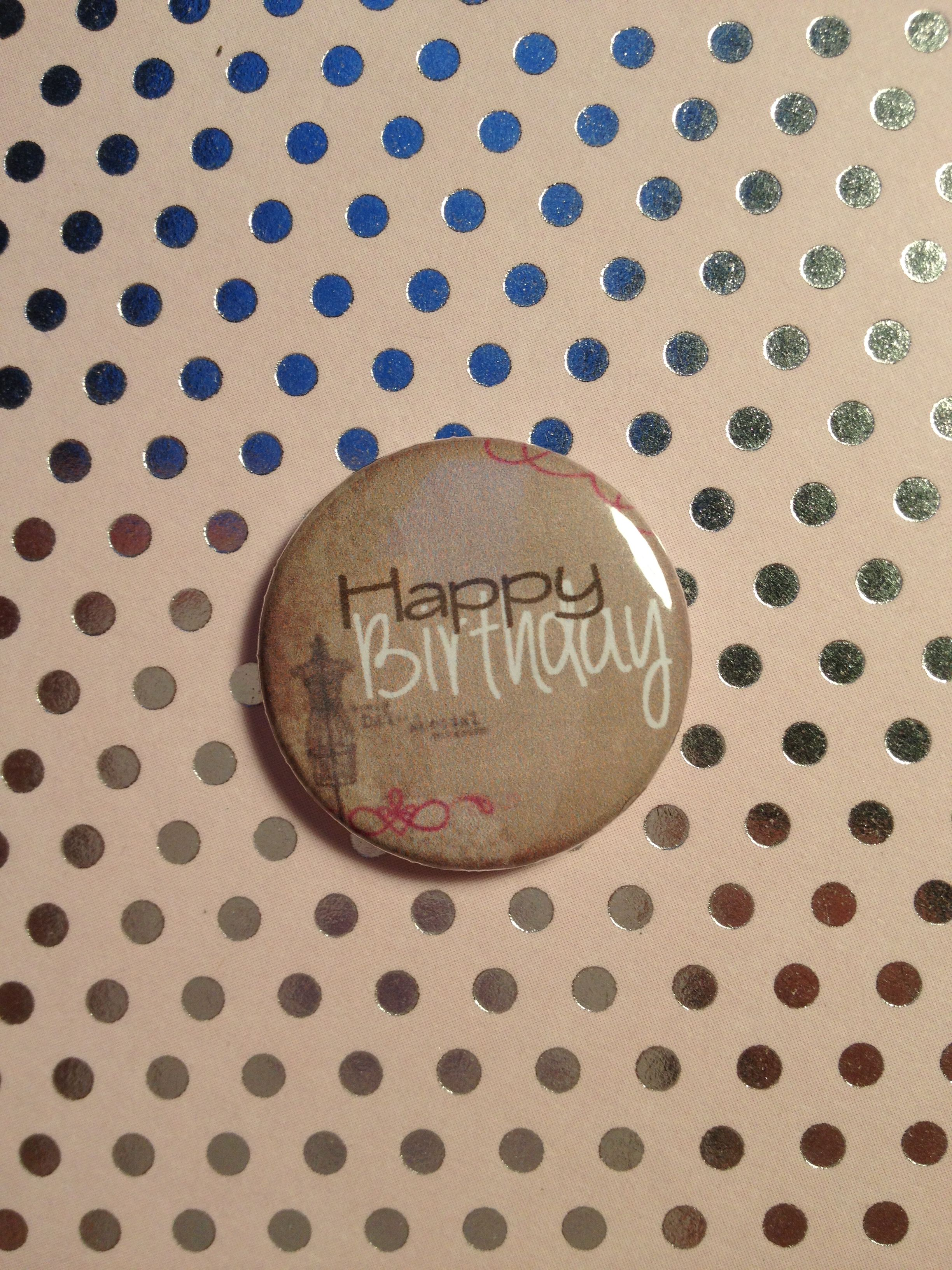 Handmade button badge