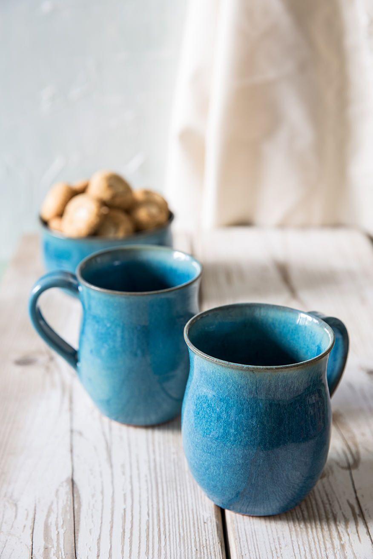 Keramik Türkis Becher Set Set Von 2 Geschenk Unter 50 In