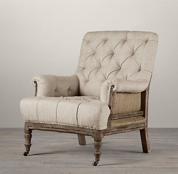 Deconstructed Tufted Roll Armchair Deck Кресла