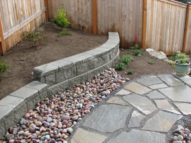 small retaining wall backyard