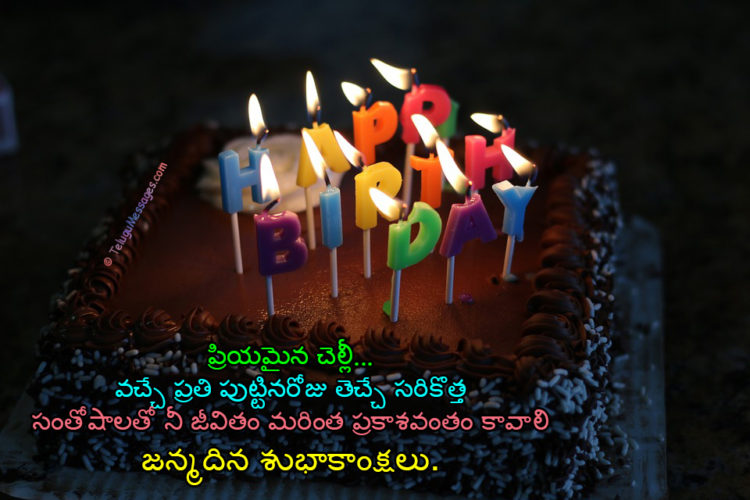 Pin on Happy Birthday Wishes in Telugu