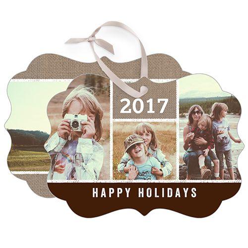 Ornaments: Textured Frames Metal Ornament, Brown, Rectangle_Bracket