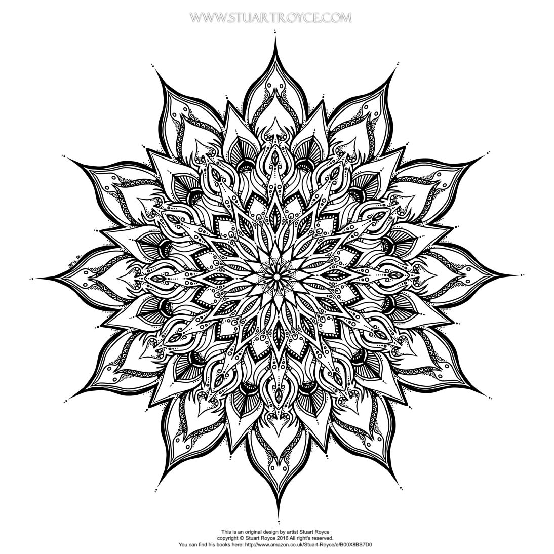 Jewish mandala coloring pages - Free Mandala Coloring Page By Stuart Royce Artist Illustrator For Eclectica Adult Coloring Books