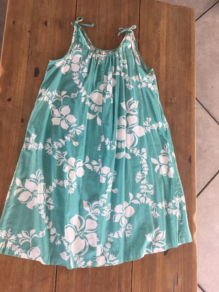 LIBERTY HOUSE By Sydney Vintage Hawaiian Maxi Dress Floral/Lei Mint Green Size M #LibertyHouse #Hawaiian
