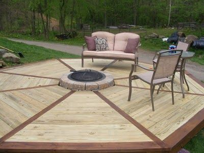 Nice Looking Octagon Fire Pit Deck Backyard Plan Fire Pit And Pond Outdoor Furniture Sets