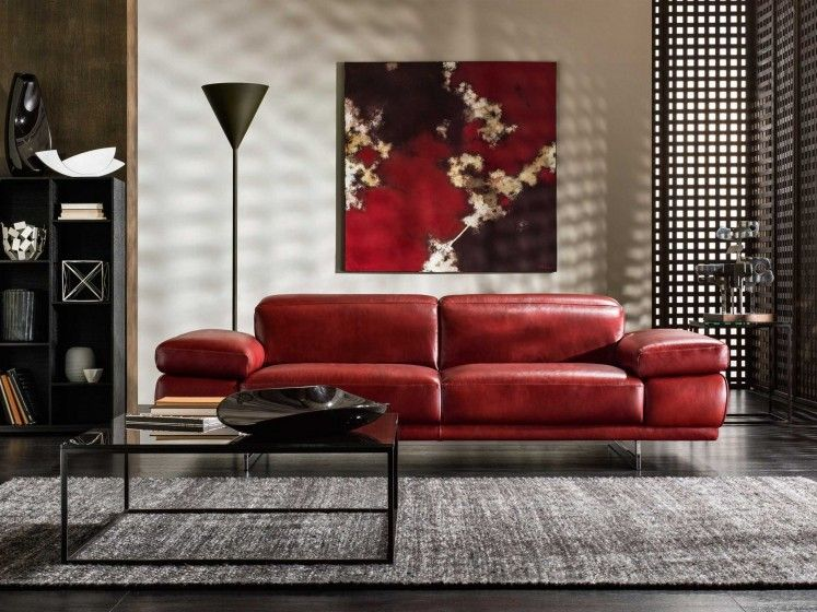 10 Amazing Red Leather Sofa Living Room Ideas