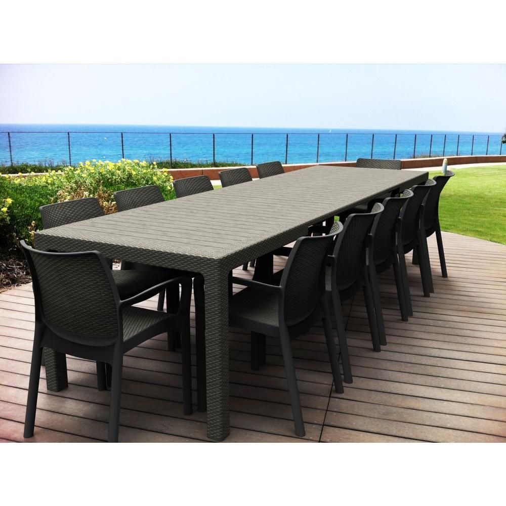 Symphony extendable patio dining table at the home depot