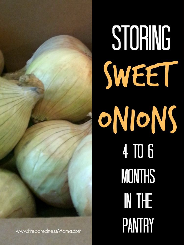 Storing Sweet Onions Preparednessmama Fruit And Vegetable Storage Sweet Onion Vegetable Storage
