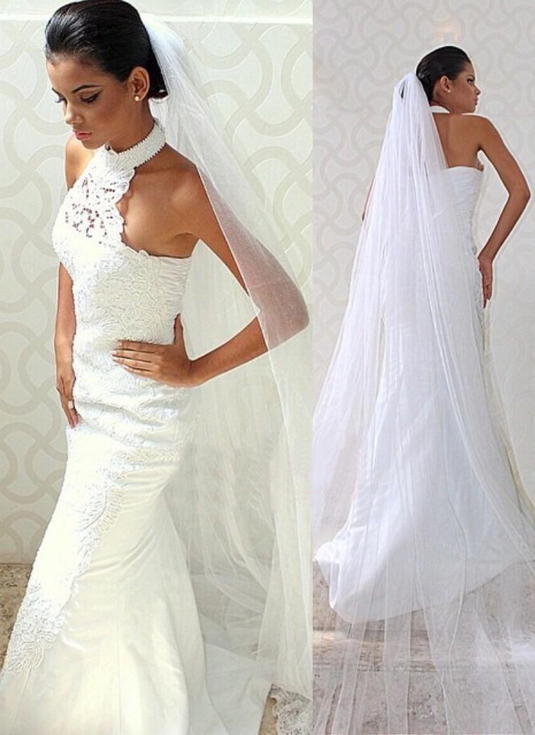 Mermaid Halter Sweep Train Gorgeous Wedding Dress With Lace Online Wedding Dress Wedding Dresses Taffeta Wedding Dress Train [ 1047 x 763 Pixel ]