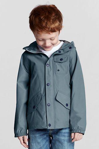 Boys' Rain Jacket from Lands' End | Boys Rain Jackets | Pinterest ...