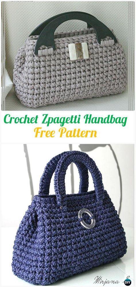 Crochet Zpagetti Handbag Free Pattern - #Crochet Handbag Free ...