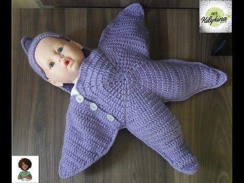 Manta estrela de crochê para bebê - Parte 2 - YouTube | μπεμπεπλεκτα ...