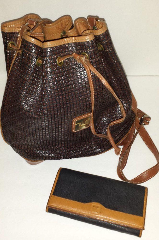 Vintage 1980 S Ted Lapidus Paris Handbag Matching Wallet Made France Tedlapidus Shoulderbagwallet