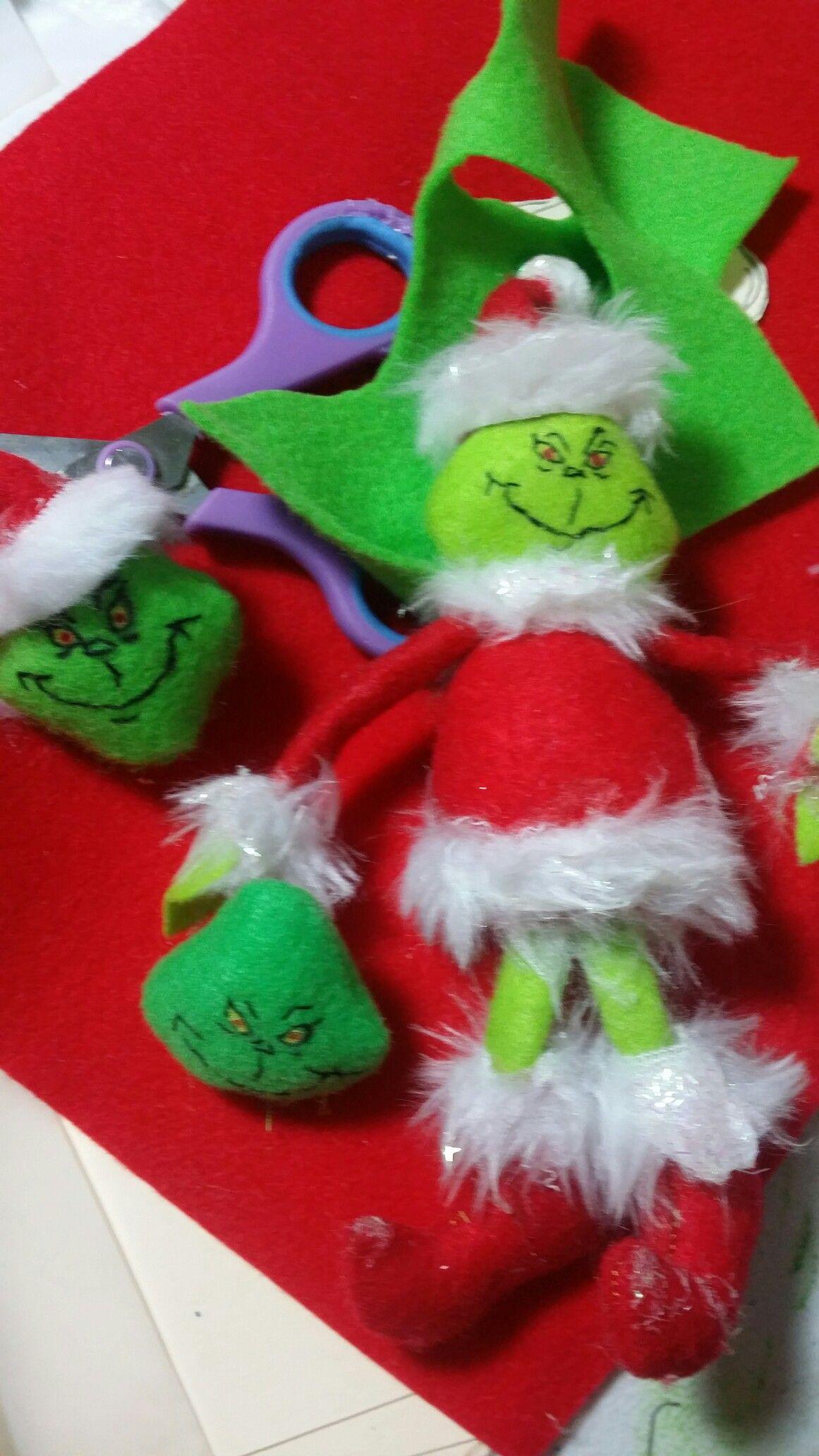 Making The Grinch Felt Sewing Christmas Felt Crafts Christmas Grinch Crafts Christmas Tree Ornaments Felt