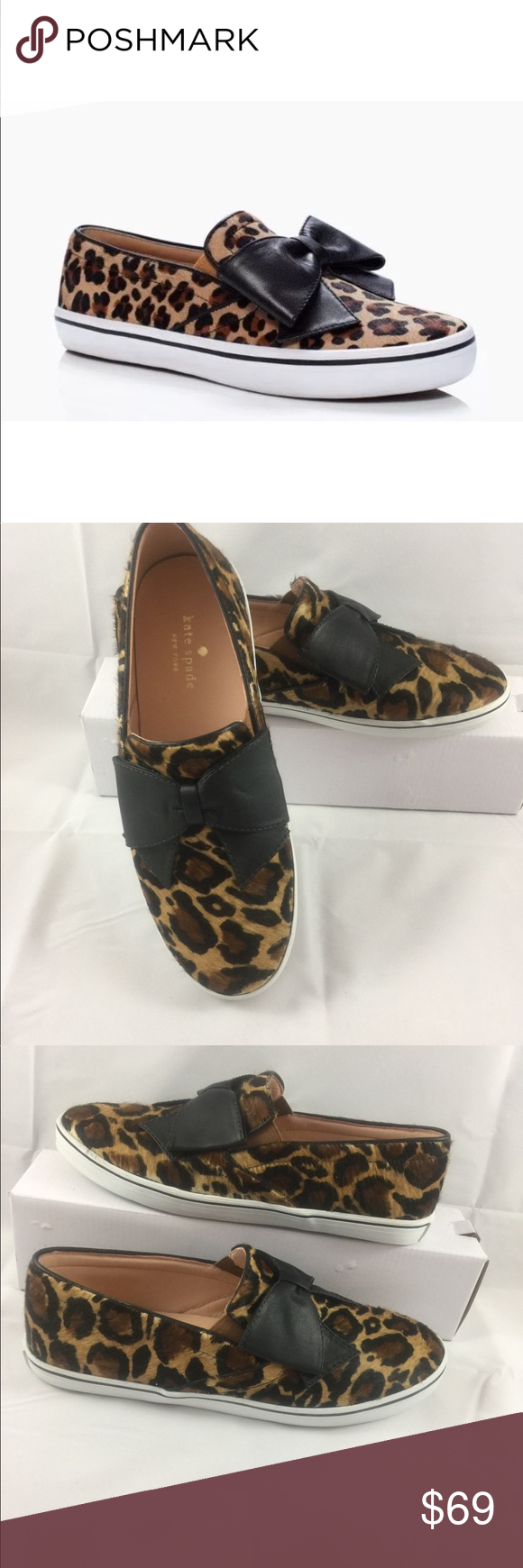 b04afd60ab55 Kate Spade Delise Leopard Print Sneakers Shoes 9