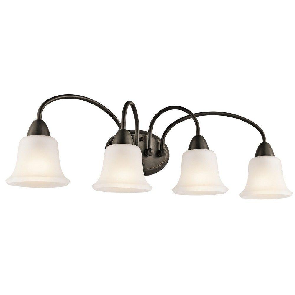 Photo of Kichler 45884 Nicholson 33″ Wide 4-Bulb Bathroom Lighting Fixture – Olde Bronze