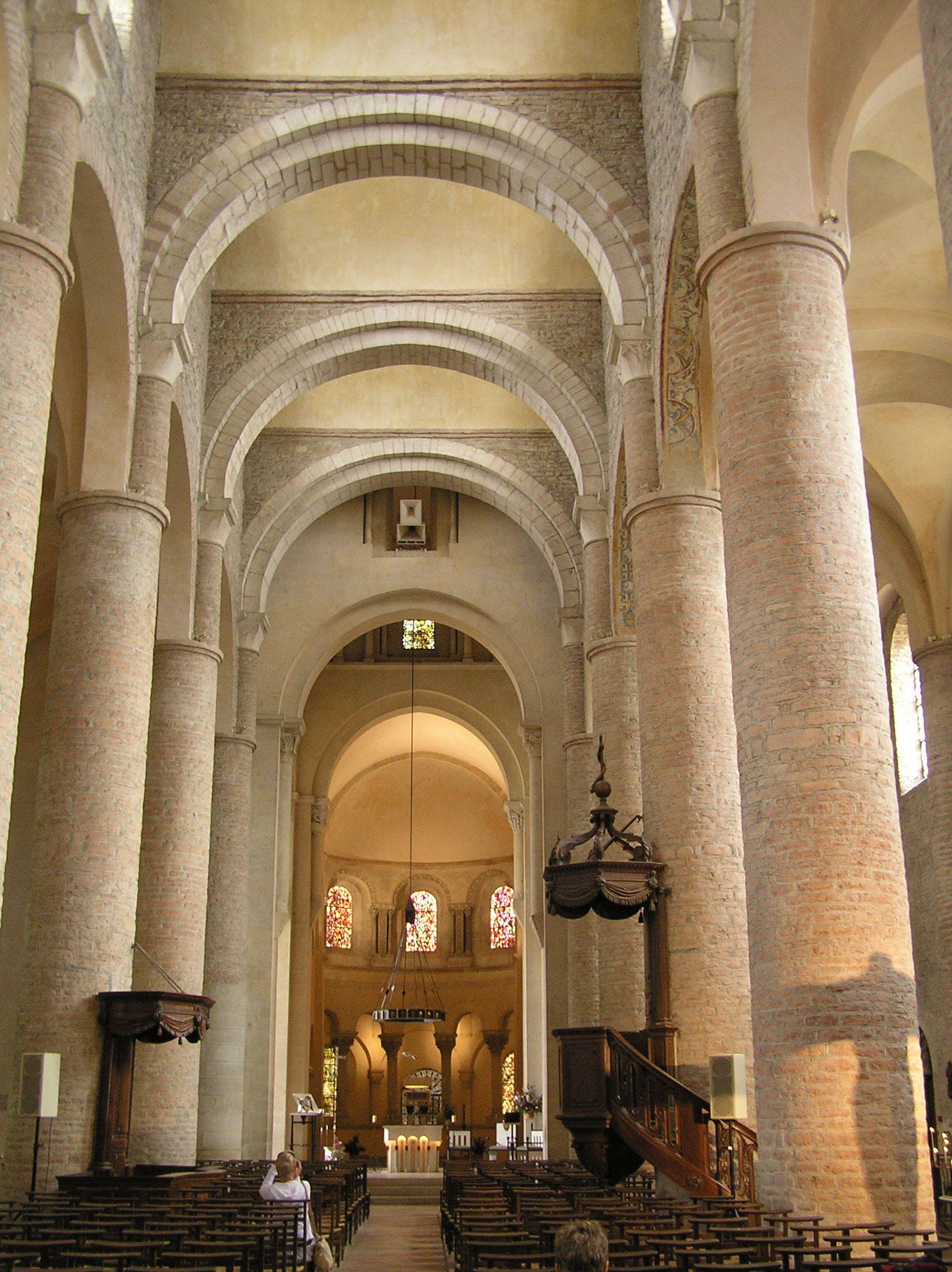 Romanesque Architecture France Details Of Nave St