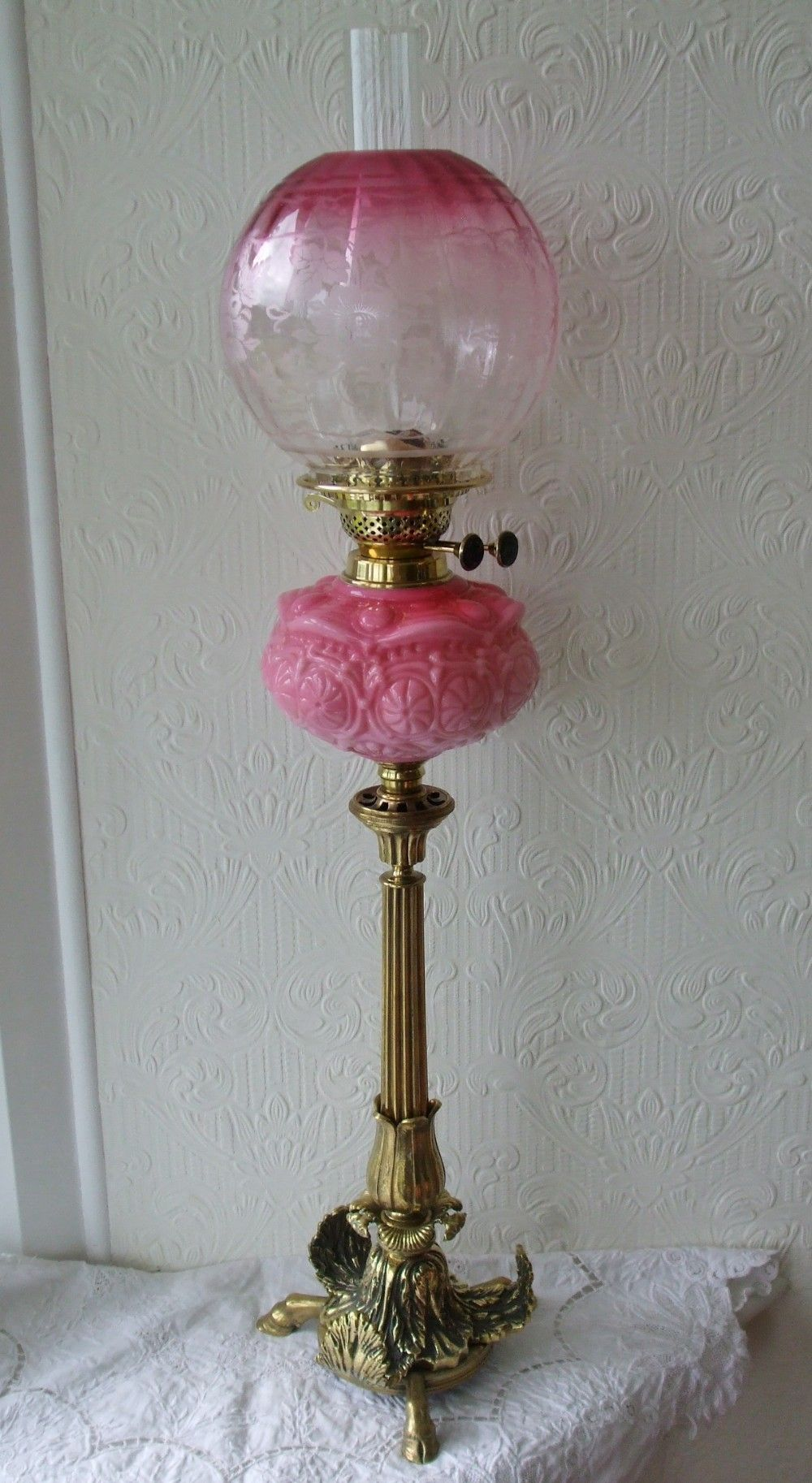 Pink Feather Lamp Shade