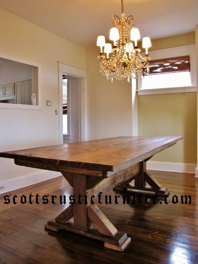 Rustic Table Farmhouse Dining Room Table Diy Farmhouse