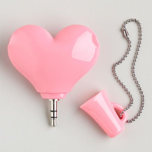 HEART HEADPHONE SPLITTER    SKU# 466869  $12.99