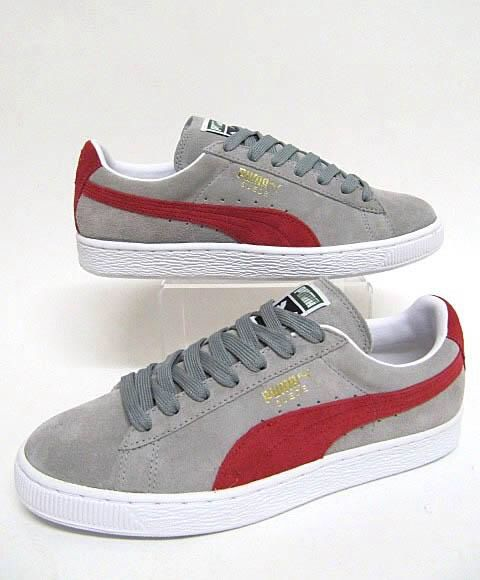 sale retailer 83718 d5b84 Puma Suede Grey-Red