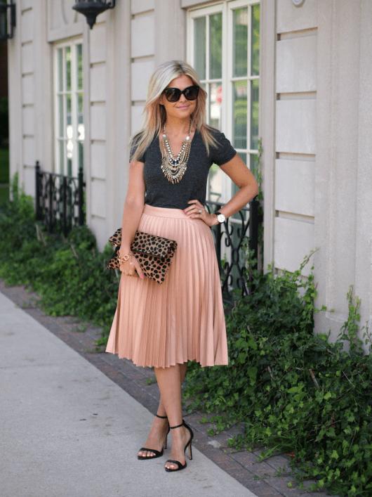 10 Ways to Wear a Pleated Midi Skirt