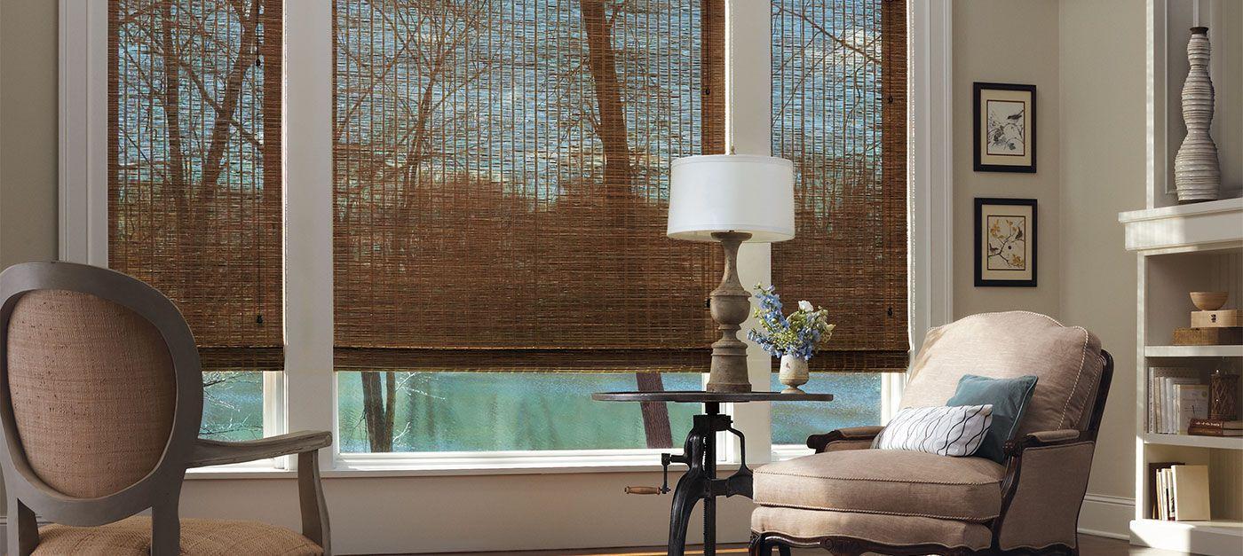 Hunter Douglas Provenance Woven Wood Shades add a warm rich