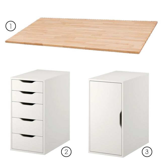 Make It Yourself Desk Two Ikea Expedit 4 Shelf Organizers And A Cut To Fit