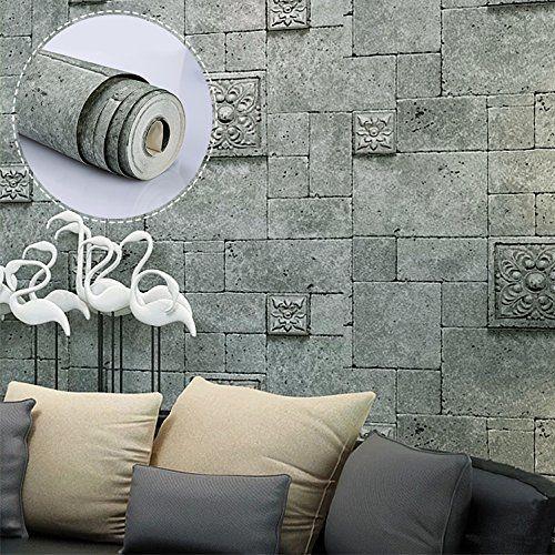 ARUHE Romanischen Steintapete Ziegelsteinmuster Mustertapete Wand - tapete f r wohnzimmer