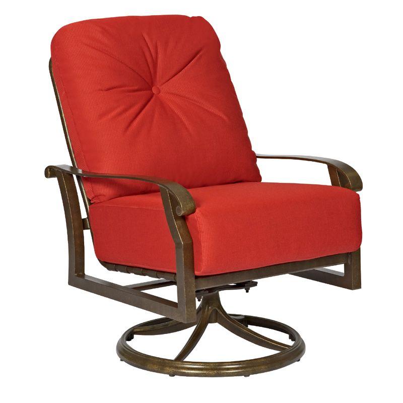 Cortland cushion swivel rocking lounge chair from woodard