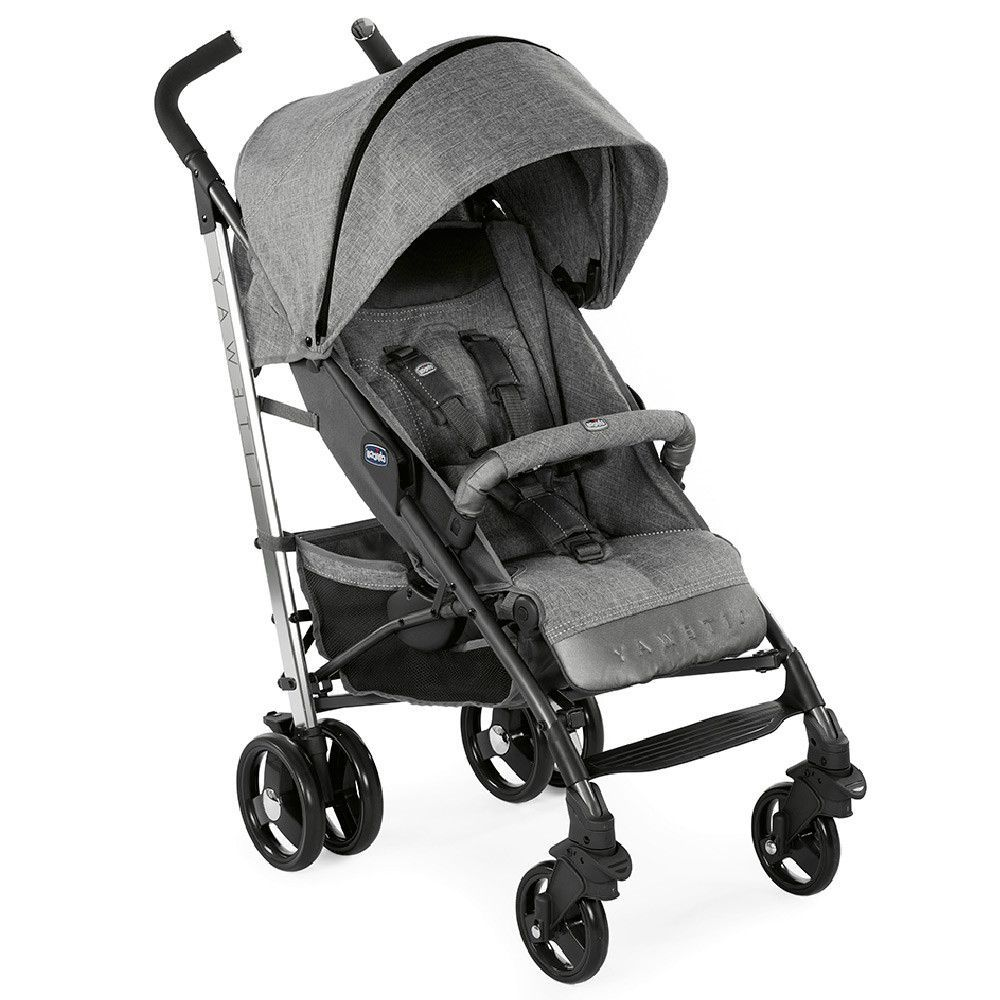 Chicco Grey Legend Lite Way 3 Top Stroller With Bumper Bar