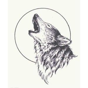 Howling Wolf Tattoo Design Idea Jpg 300 300 Wolf And Moon Tattoo Howling Wolf Tattoo Wolf Tattoo Design