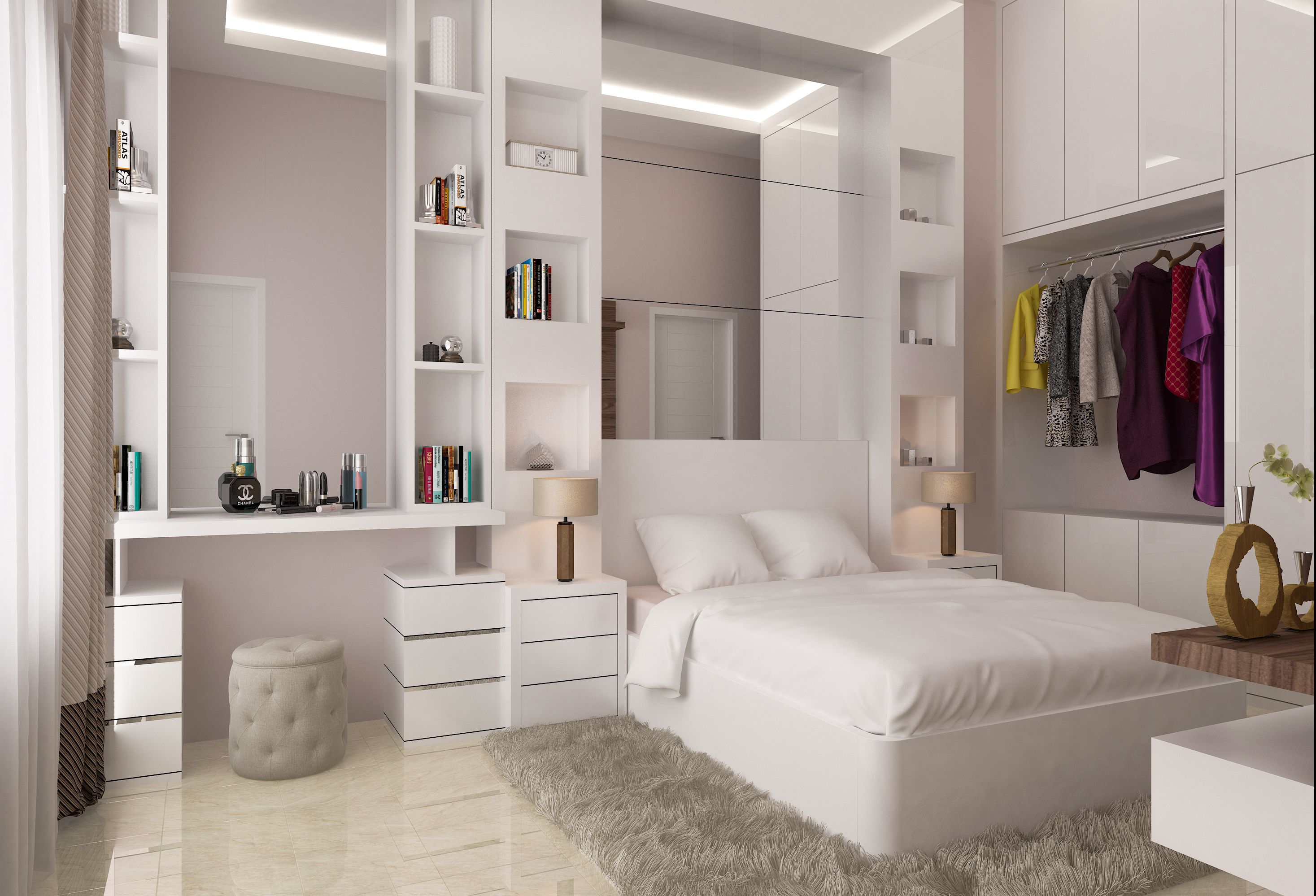 Kamar anak perempuan proyek kutisari also portofolio desain interior rh pinterest