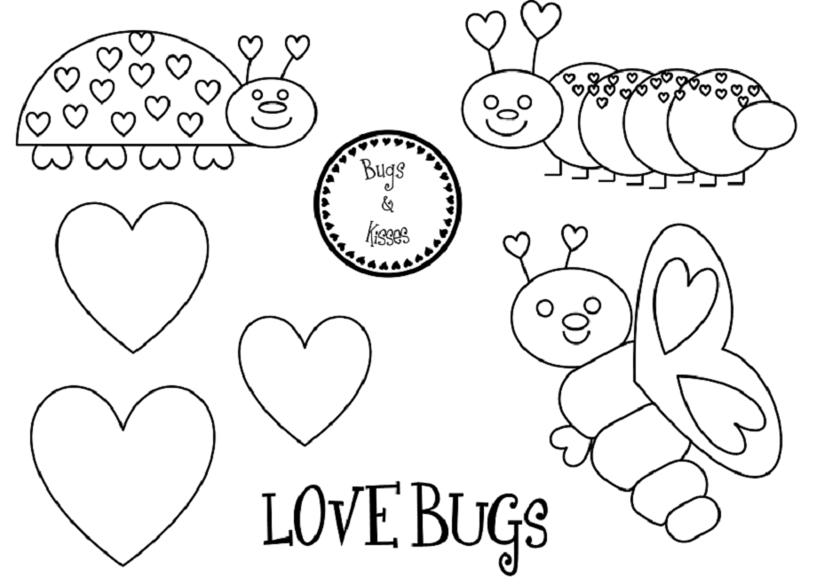 love bug coloring pages | Love | Pinterest