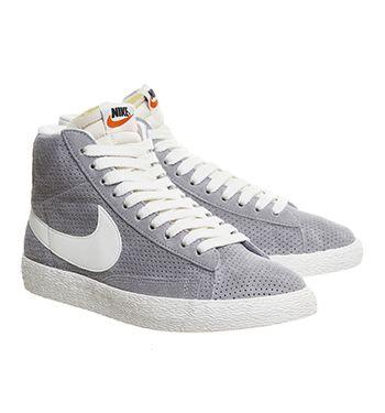 Nike Gray Blazer Trainers Retailers