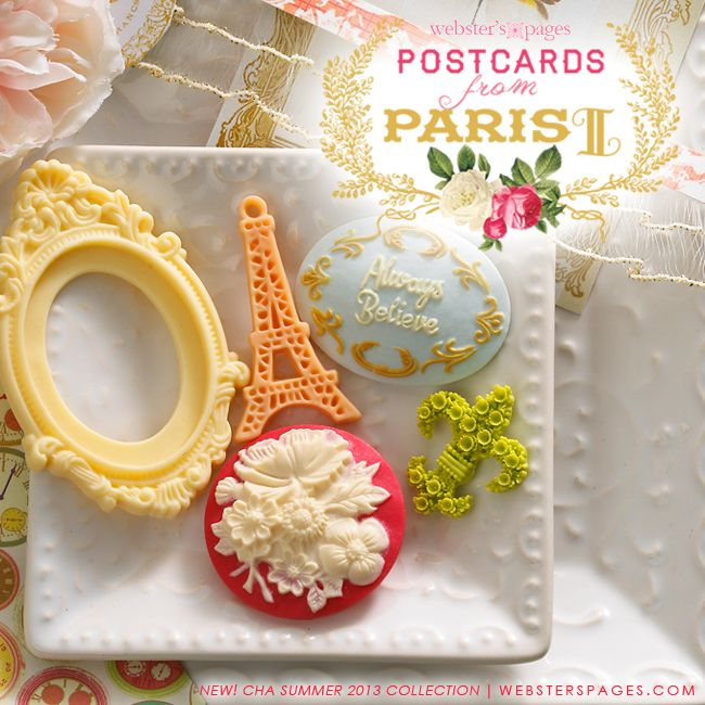 Postcards from Paris by Websters Pages - such gorg & pretty embellishments!