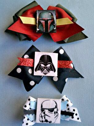 Space Movie Inspired Hair Bows Set of 3 by ispeakgeek on Etsy, $9.75