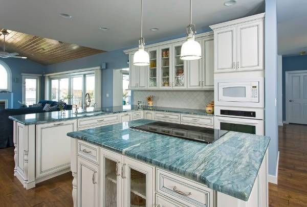 Best Blue Marble Countertop 19 In Wall Xconces Ideas With Marble Countertops Wooden Countertops Kitchen Kitchen Marble