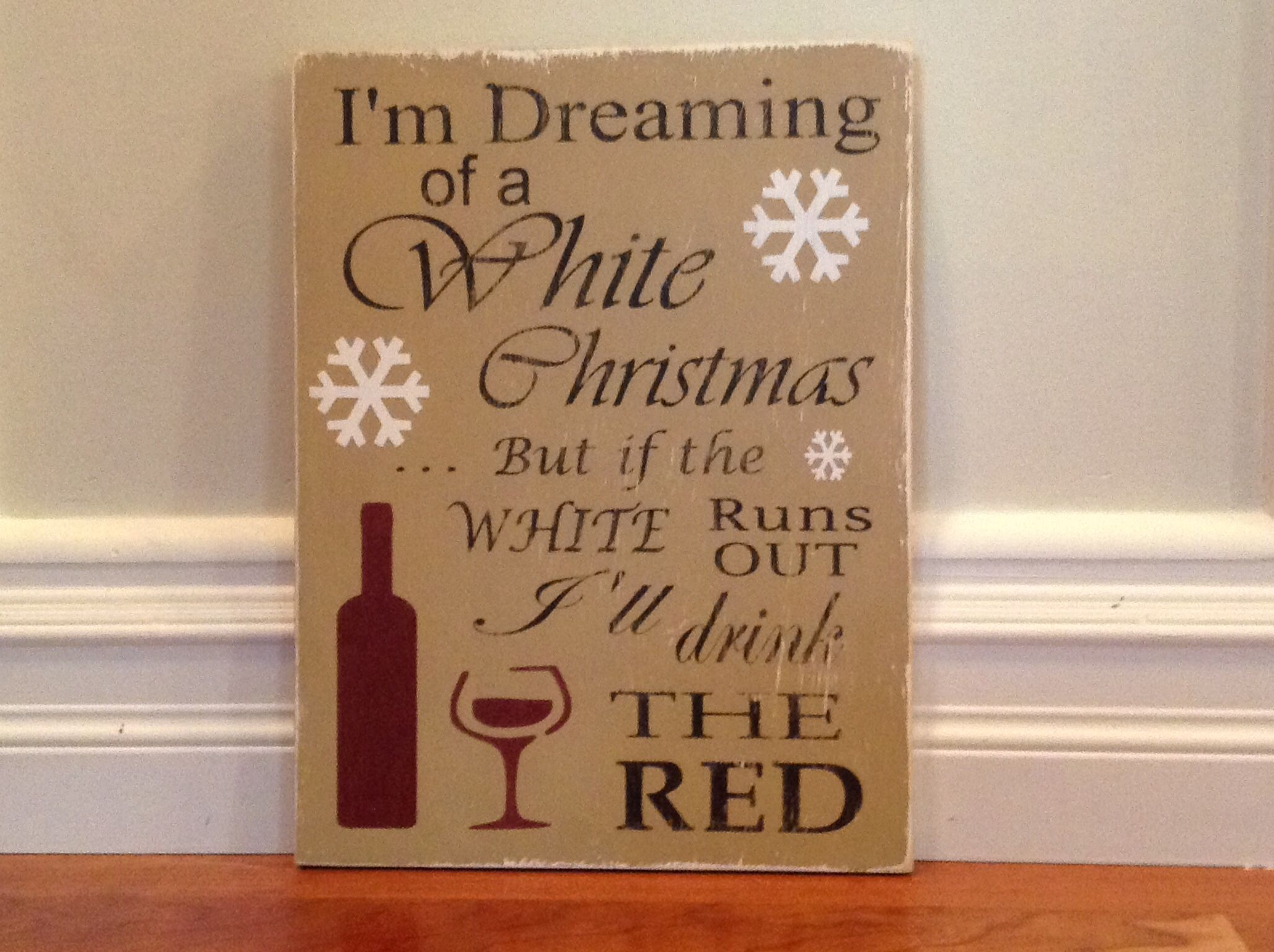 Christmas wine sign 12x15