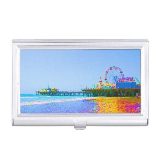 Funky pixels santa monica pier case for business cards zizzling funky pixels santa monica pier case for business cards colourmoves